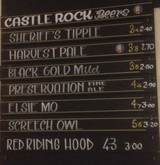 Castle Rock Beers