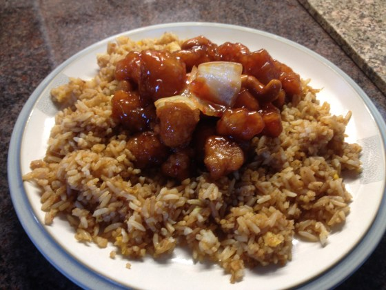 Chicken and Fried Rice Dish