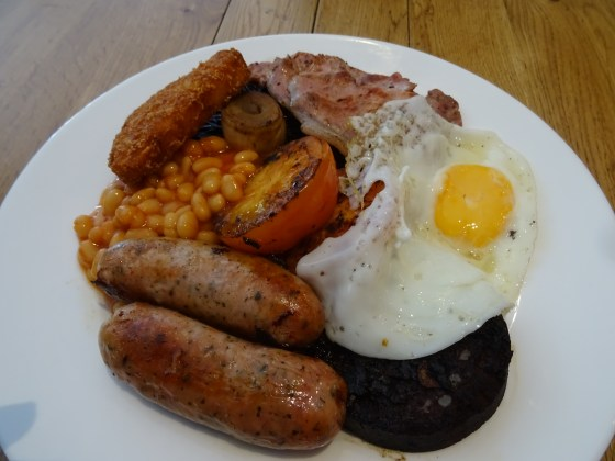 Full Breakfast at The Crafty Crow in Nottingham