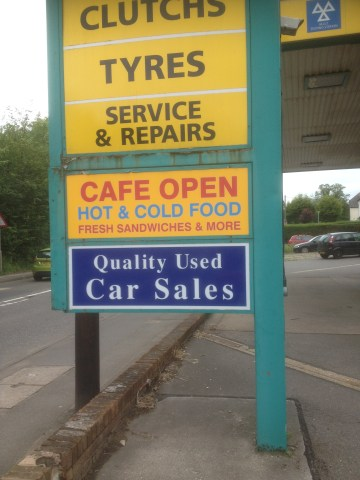 Wilford Lane Garage Sign