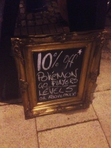 Pokemon Sign at Fothergills