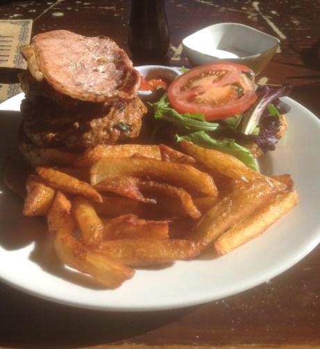 Burger at the Angel Microbrewery