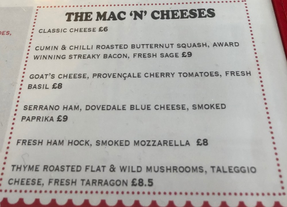I love mac and cheese