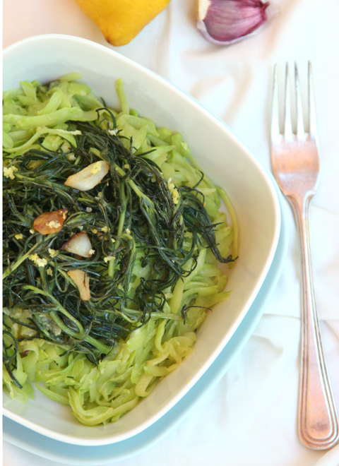 Agretti plated