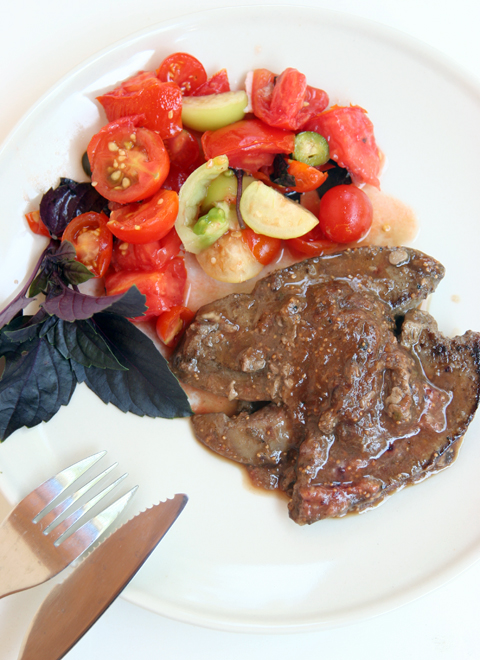 Liver with Fig Sauce L