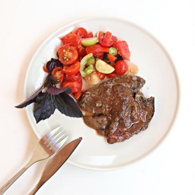 liver with fig sauce