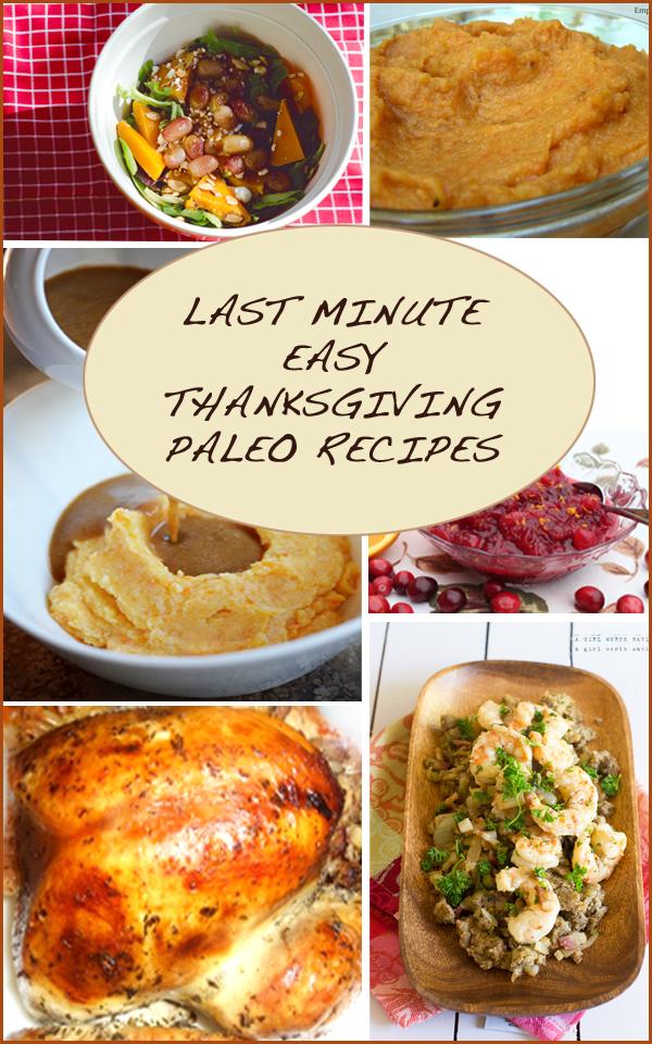 Last Minute Paleo Thanksgiving Recipe Roundup