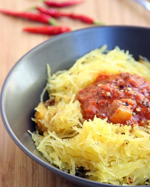 Spaghetti Squash with Caveman Sauce 1