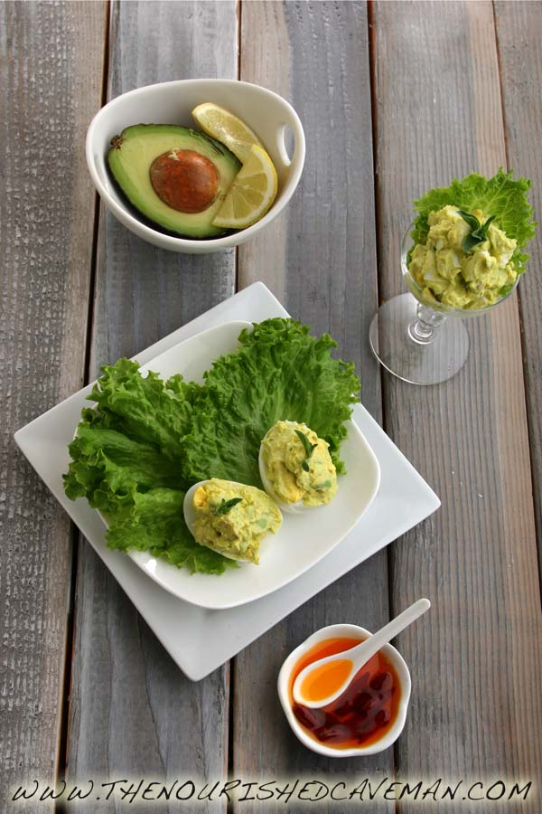 Avocado Deviled Eggs By The Nourished Caveman