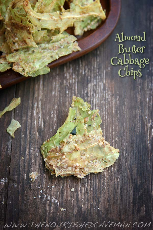Almond Butter Cabbage Chips By The Nourished Caveman 2