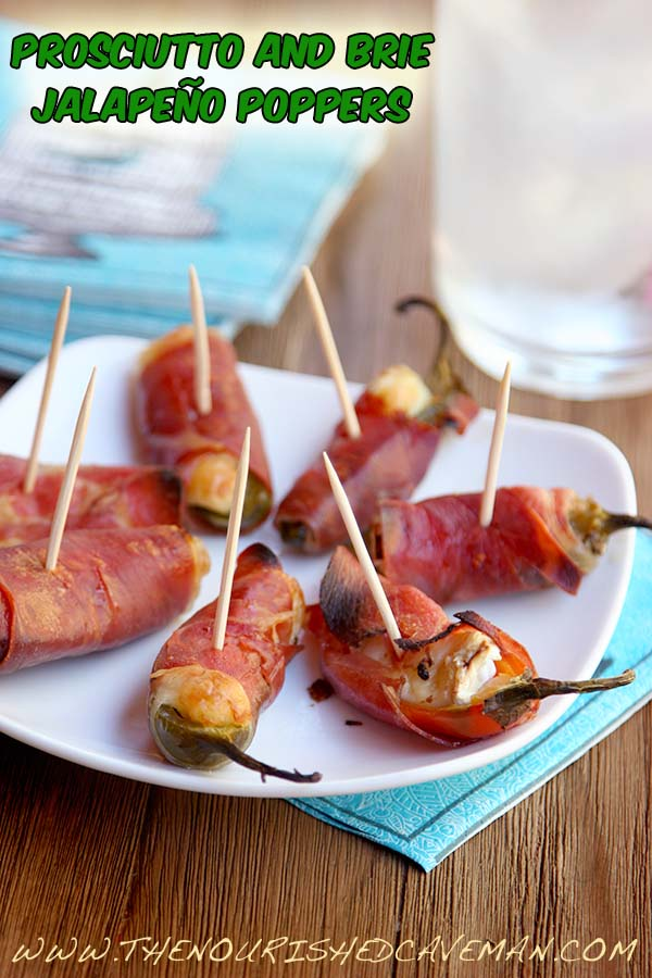 Prosciutto and Brie Jalapeno Poppers By The Nourished Caveman side