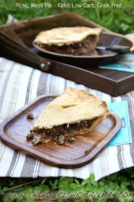 Time for picnics! Are you afraid to go out because of allergies? Read here why my Keto Meat Pie is great for you and what you can do to get rid of them! Keto Meat Pie By The Nourished Caveman
