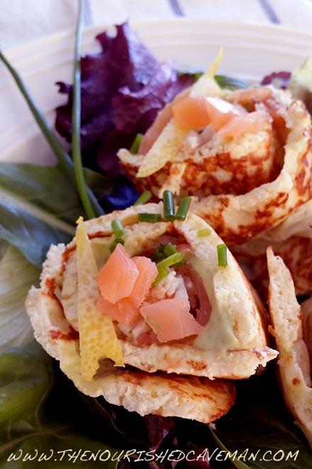 Smoked Salmon and Creamy Avocado Keto Wraps By The Nourished Caveman 2