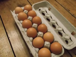 Patured local eggs