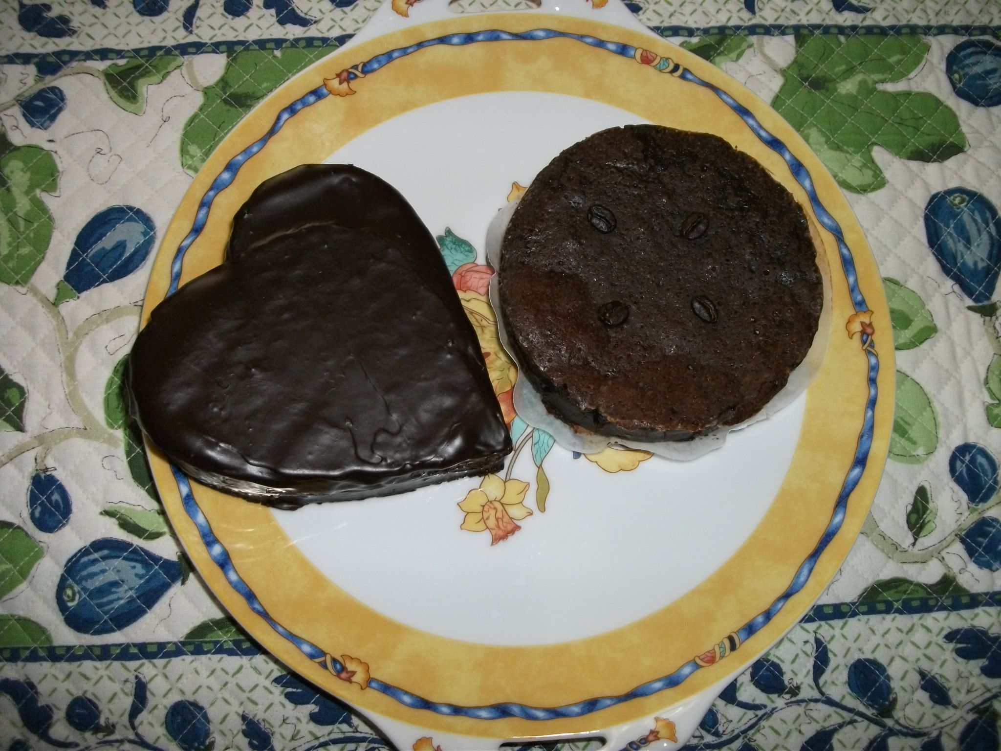 Chocolate ganache heart