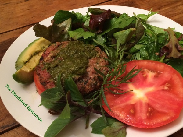 14-Lamb Burger w Tulsi Pesto