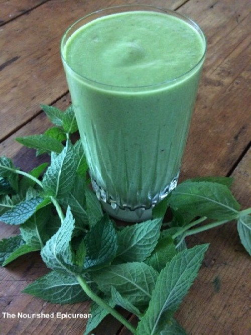 The Nourished Epicurean_Pear-Mint Smoothie
