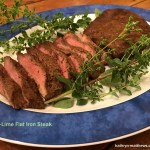 Jalapeno-Lime Flat Iron Steak, Sliced