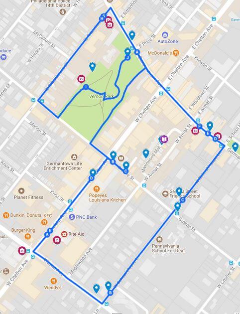 walking tour mural map germantown