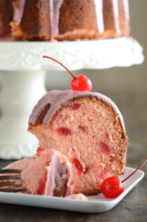 Cherry Almond Bundt Cake The Novice Chef