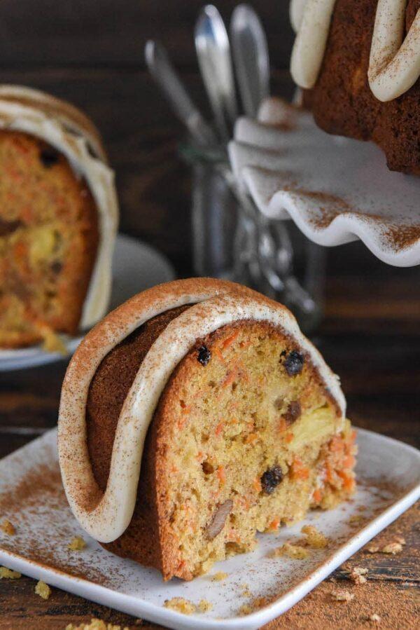 Loaded Carrot Bundt Cake The Novice Chef