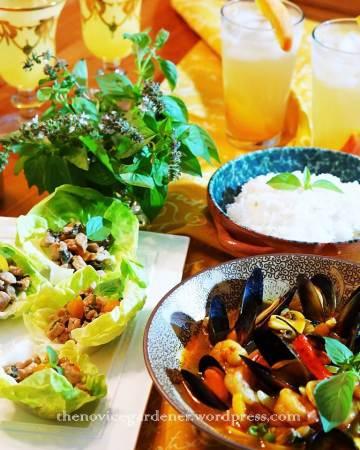 thai basil dinner