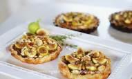 Fig Caramelized Onion Goat Cheese Tarts