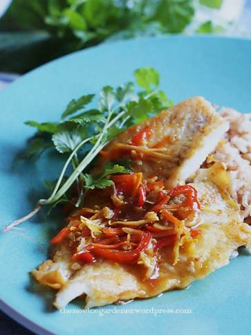 fish fillet in turmeric lemongrass chili sauce