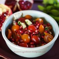 pomegranate tomato salad