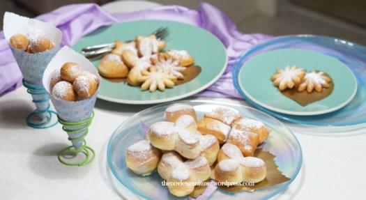 assorted Mardi Gras beignets