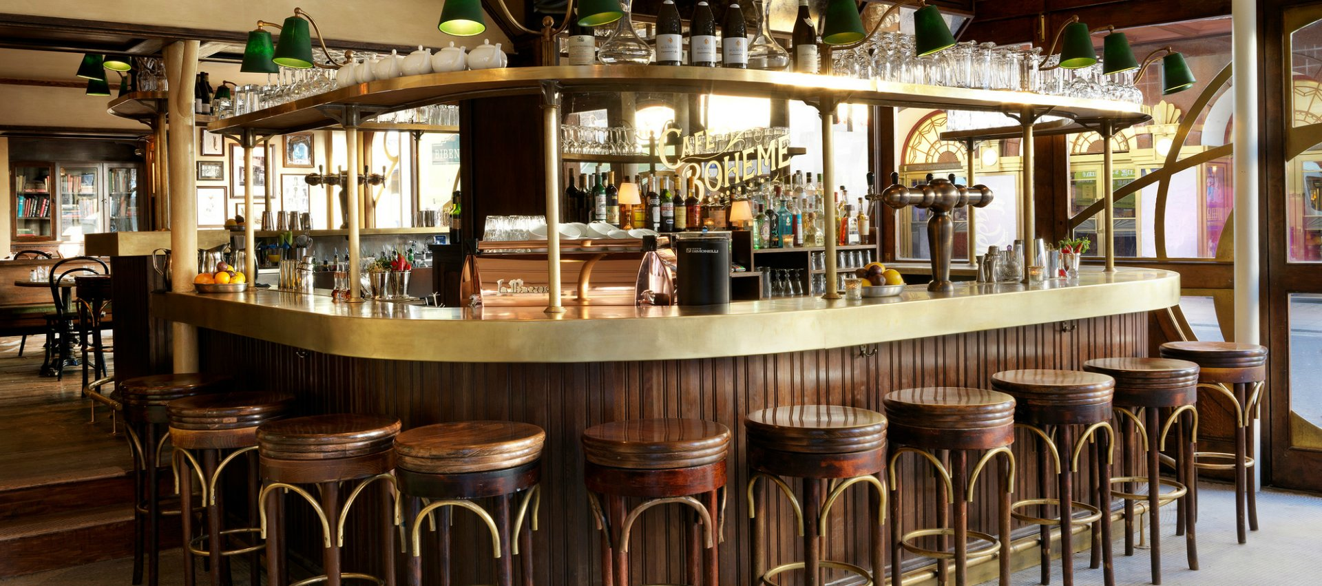 small leather club chairs 2nd row captains cafe boheme | a genuine classic in the heart of soho