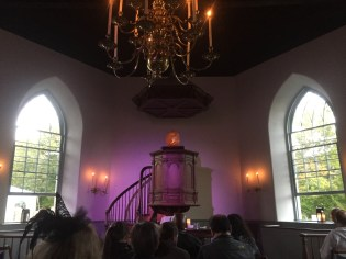 At the dramatic reading of The Legend of Sleepy Hollow in the old Dutch church