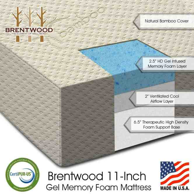 Bwood 11 Gel Infused Hd Memory Foam Mattress Review The Number One