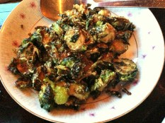 brussel sprouts with sambal at talde
