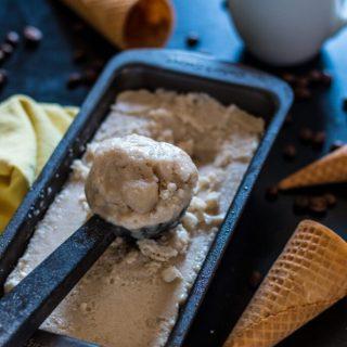 No-Churn Vegan Coffee Ice Cream | www.thenutfreevegan.net