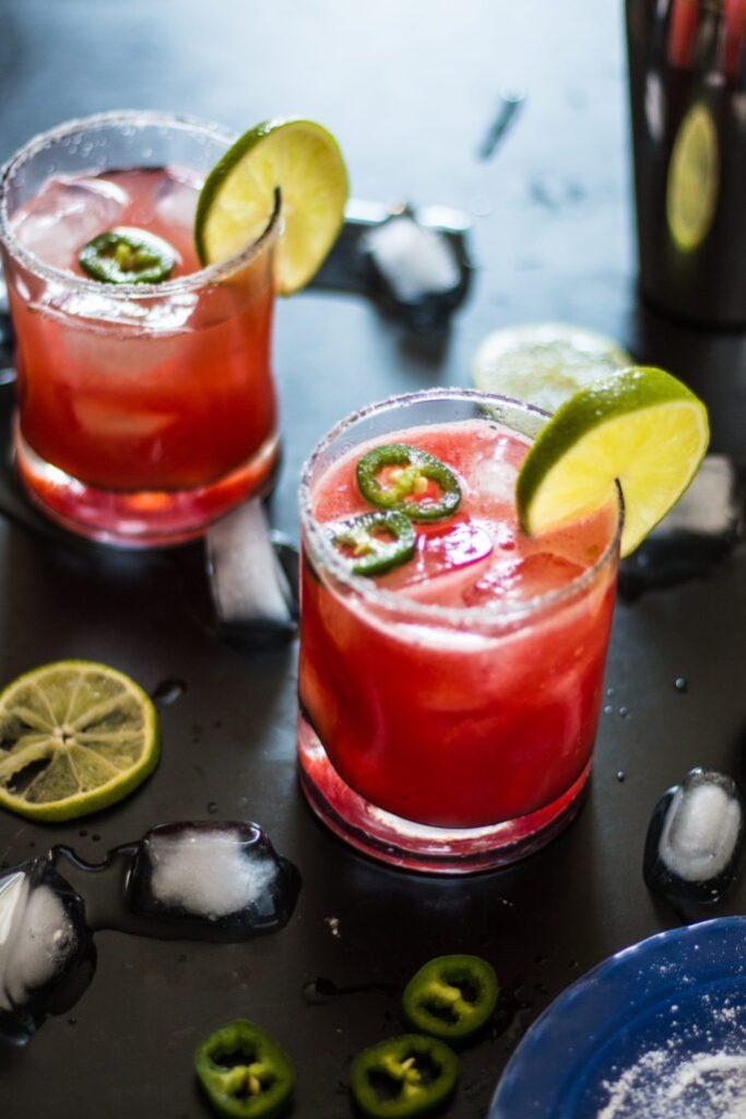 Spicy Watermelon Margarita | www.thenutfreevegan.net