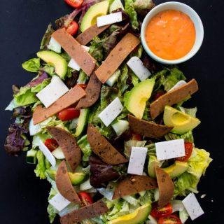 Meat-Free Chef Salad | www.thenutfreevegan.net