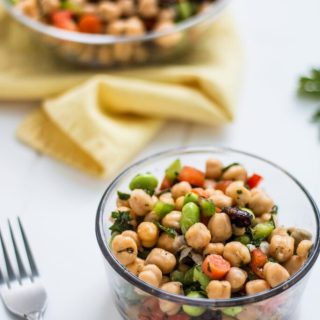 Easy Vegan Chickpea Salad | www.thenutfreevegan.net