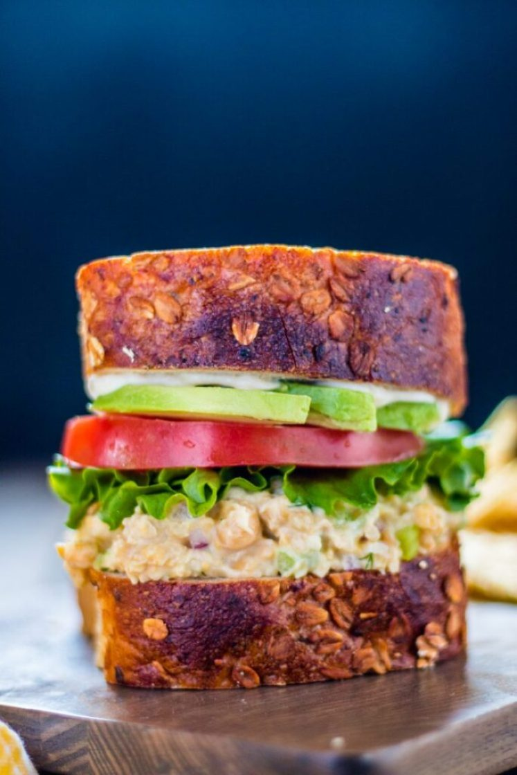 "Simple and delicious vegan chickpea ""tuna"" salad | www.thenutfreevegan.net"