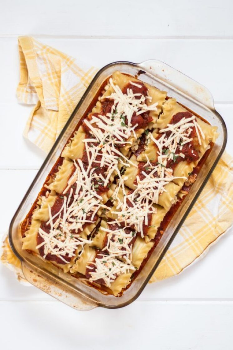 Easy and delicious lasagna roll-ups vegan nutfreevegan