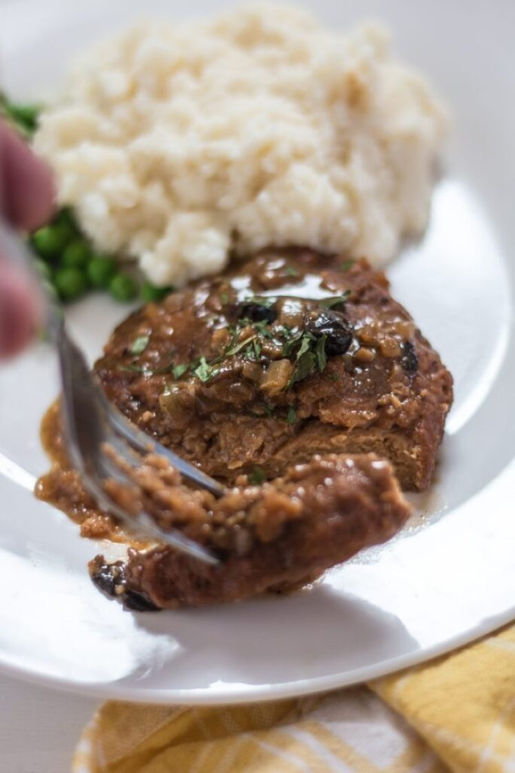 Meat-free Salisbury Steak vegan nutfreevegan