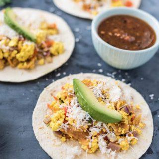 Vegan Migas Tacos nutfreevegan