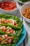 Buffalo Chickpea Lettuce Cups nutfreevegan vegan