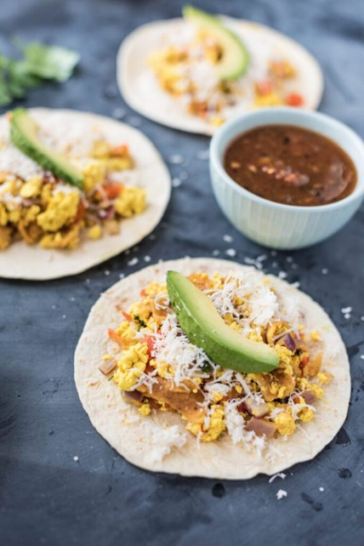 Vegan Migas Breakfast Tacos Cinco de Mayo