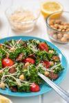 Kale Caesar Salad with Nut-Free Dressing