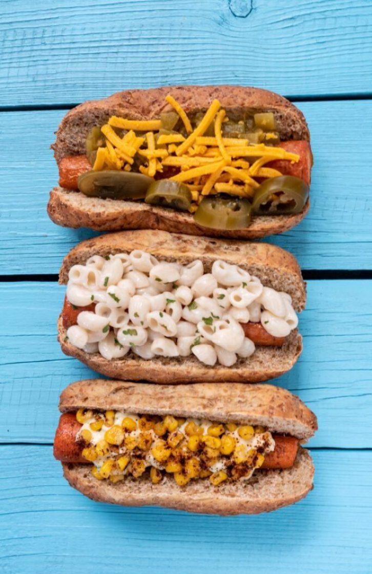 Ballpark Carrot Dogs, Three Ways Vegan