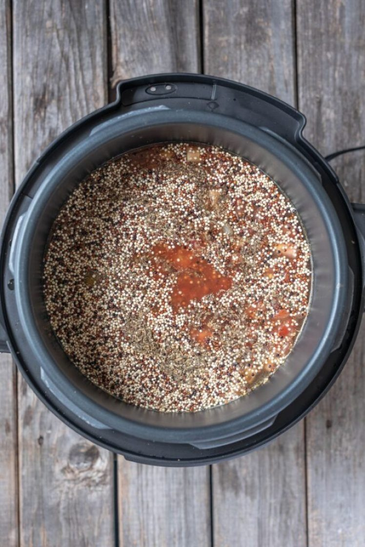 Vegan Instant Pot Stuffed Pepper Soup nutfreevegan