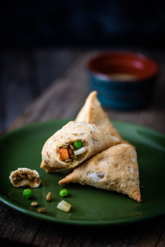 Sweet Potato and Lentil Samosas Nutfreevegan