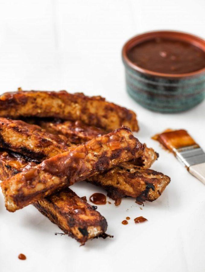 Vegan Barbecue Tempeh Ribs nutfreevegan