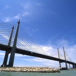 The Penang Bridge, linking the island state to the mainland.